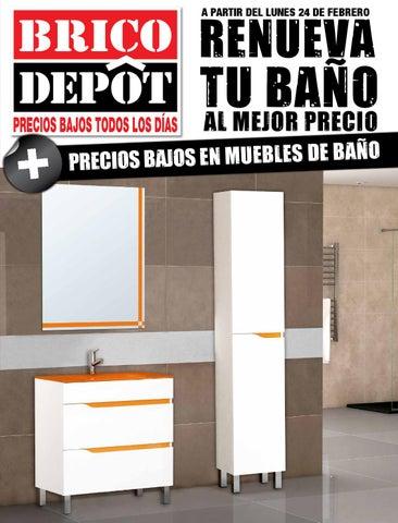 Bricodepot catalogue 24febrero 24marzo2014 by for Espejos bano bricodepot