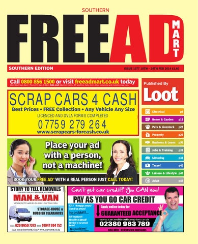Free ad mart southern 18th february 2014 by loot issuu page 1 fandeluxe Image collections