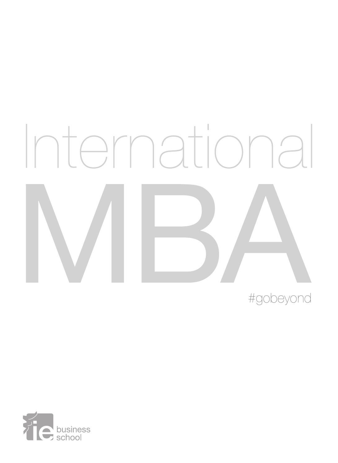 International MBA (español) - IE Business School by IE Master ...