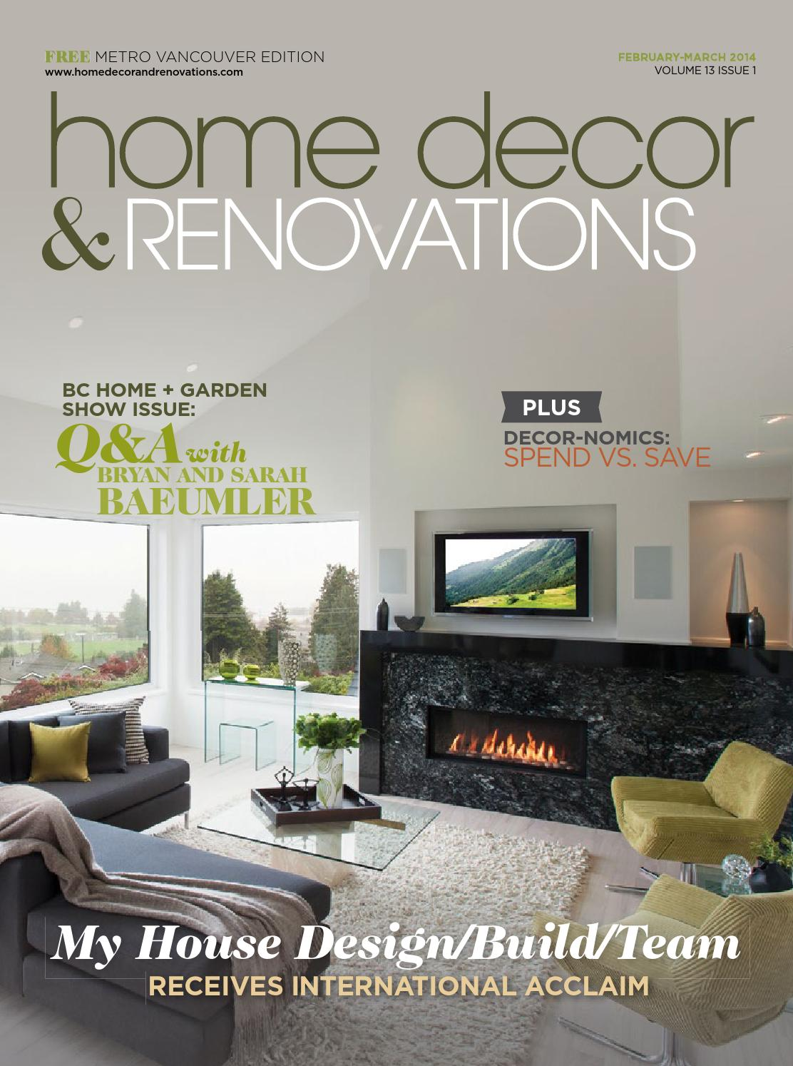 Vancouver Home Decor Renovations Feb Mar 2014 By