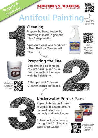 Painting Antifoul Paint With Boat In The Water