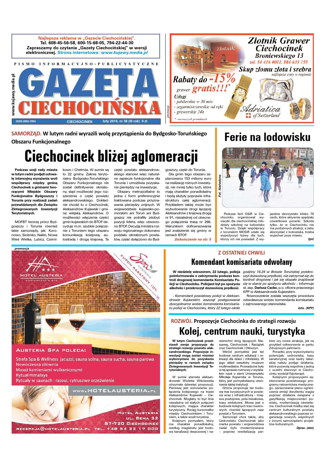 Gazeta Ciechocińska Nr 36 2014 By Wydawnictwo Kujawy Issuu