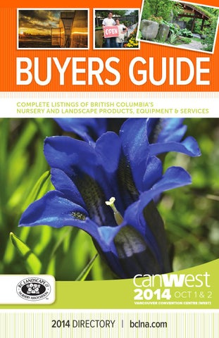 Ers Guide Complete Listings Of British Columbia S Nursery And Landscape Products Equipment Services