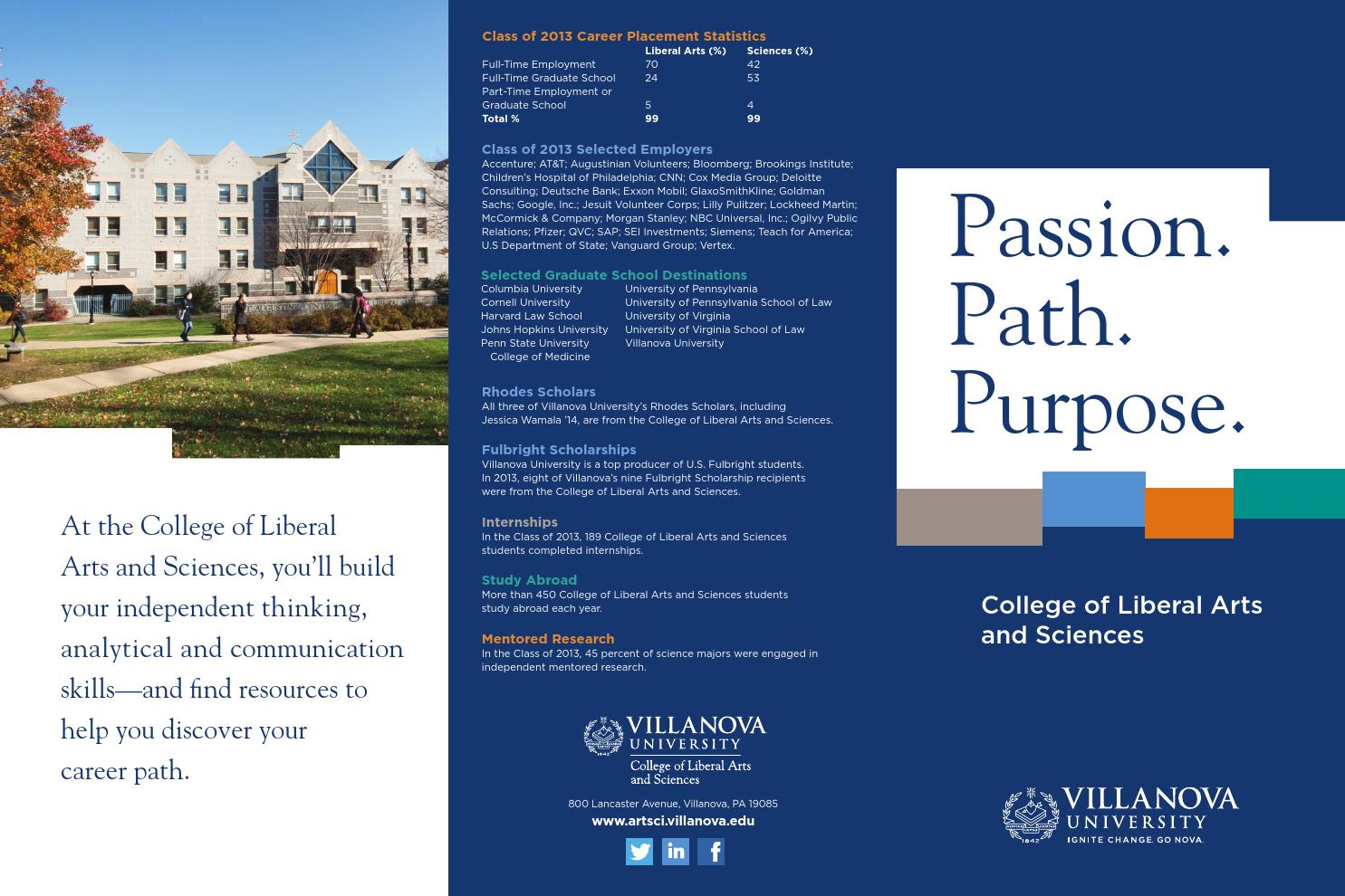Passion, Path and Purpose - 2014 by Villanova University College of