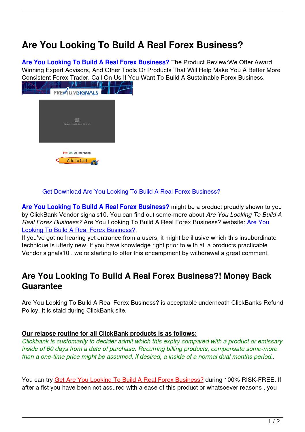 How to build a forex company