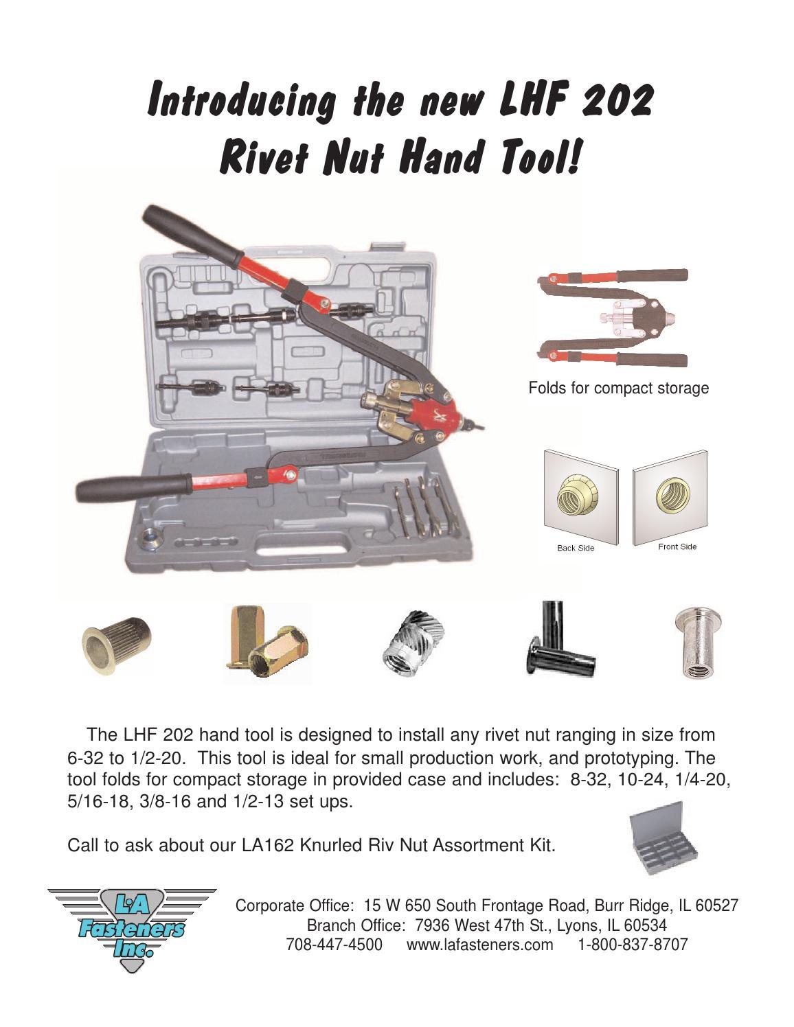 Lhf 202 rivet tool flyer by lafasteners com - issuu