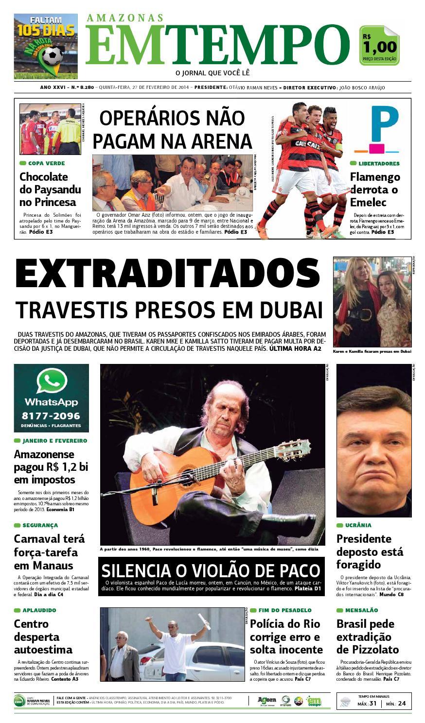 EM TEMPO - 27 de fevereiro de 2014 by Amazonas Em Tempo - issuu 3878fced261f4