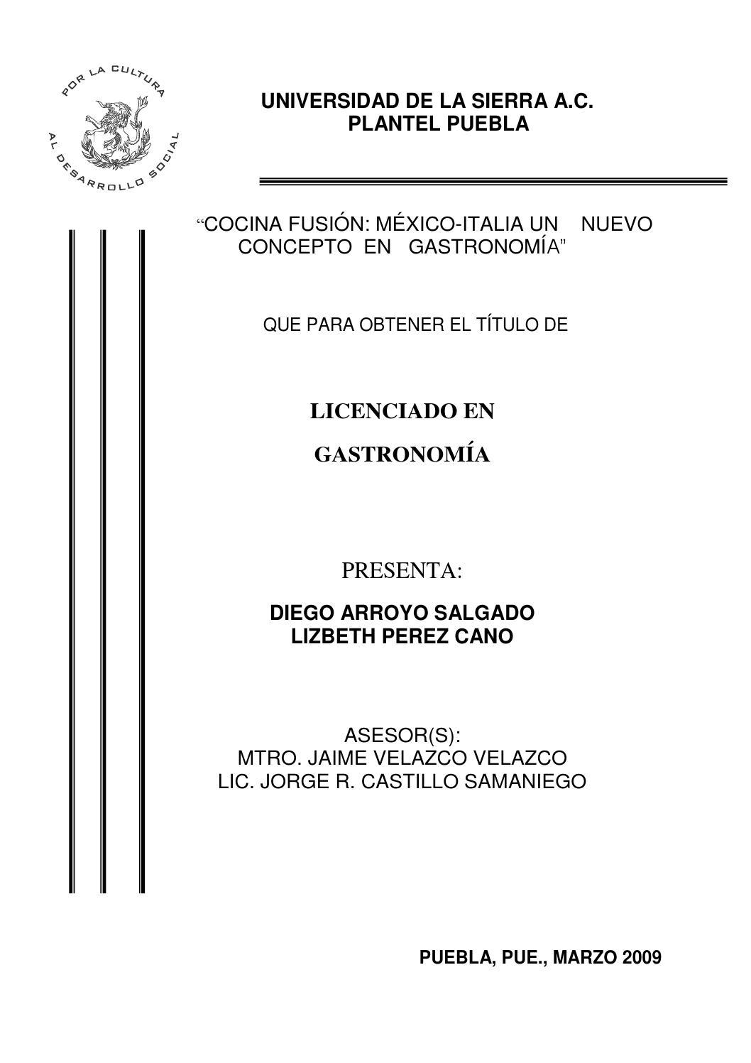 Tesis cocina fusion by chefdiego issuu for Tecnicas basicas de cocina pdf