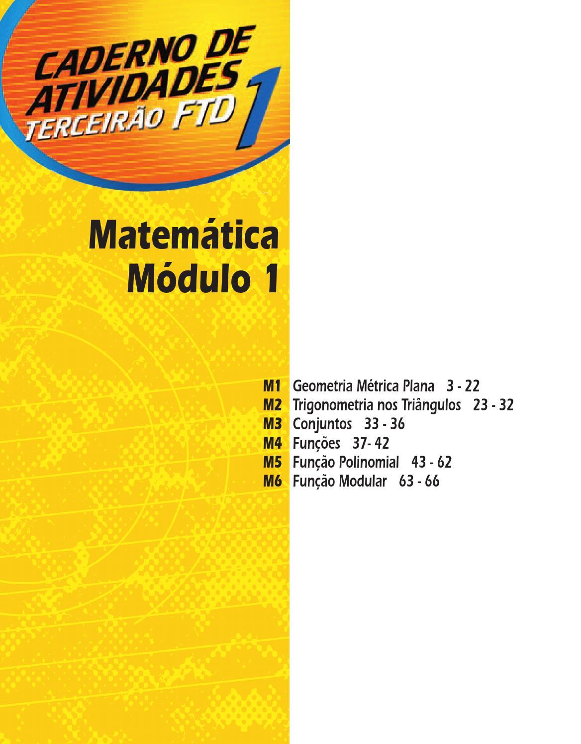 1 Matemática Exercícios Resolvidos 01 M2 Geometria Métrica Plana By