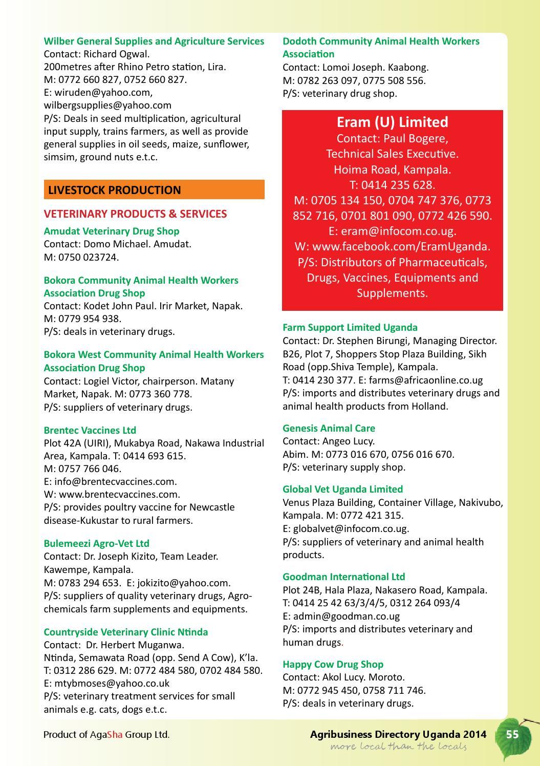 Uganda Agribusiness Directory 2014 by Agasha Group - issuu