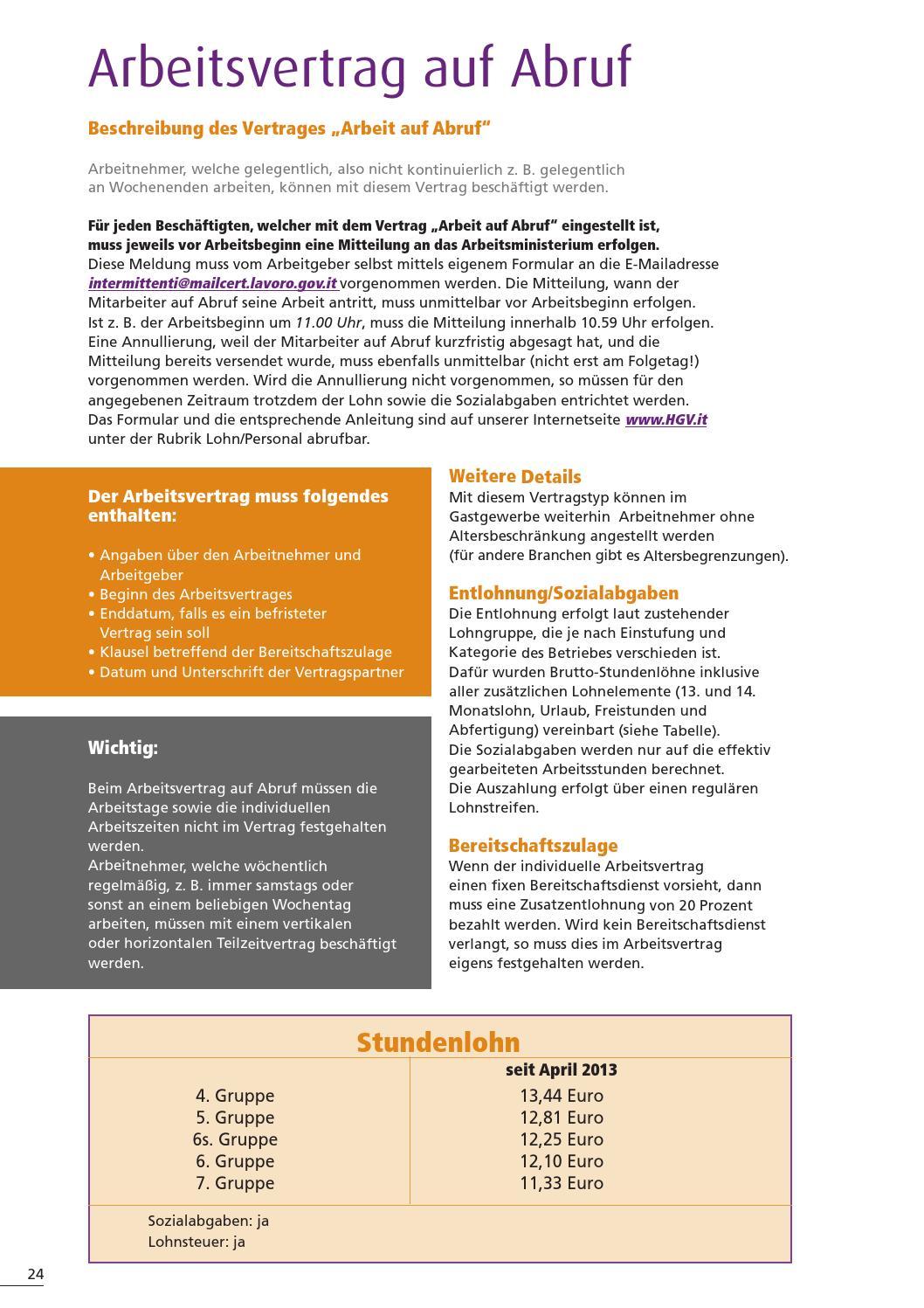 Broschüre Arbeitsverträge By Hgv Service Genossenschaft Issuu