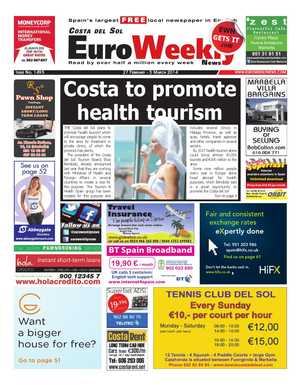 Euro Weekly News - Costa del Sol 27 February - 5 March 2014 Issue 1495 by  Euro Weekly News Media S.A. - issuu