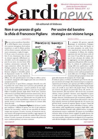 Mensile di informazione socio economica diretto da Giacomo Mameli n. 2 -  anno XV - febbraio 2014 - € 2 c357f8504d3