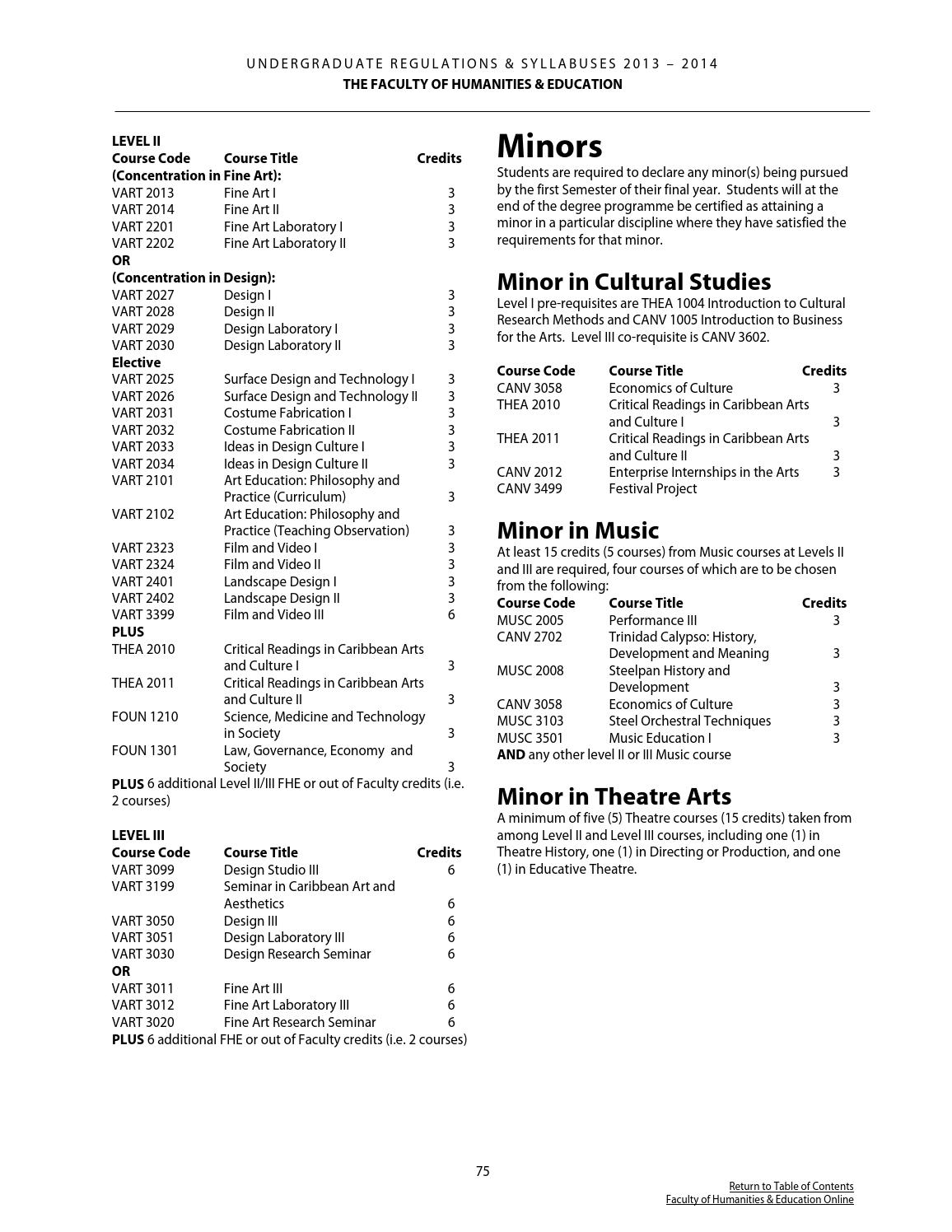 Faculty of Humanities & Education Undergraduate Booklet 2013