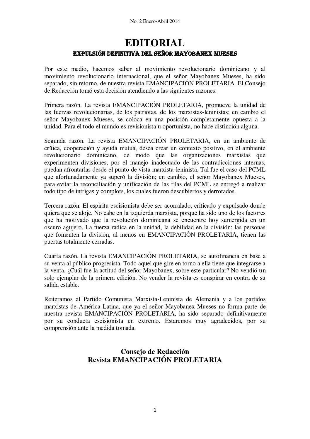 REVISTA EMANCIPACIÓN NO.2, ENERO-ABRIL 2014 by Manuel Linares - issuu