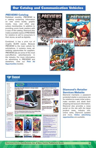 Diamonds New Comic Publishers Info Guide By Previews Issuu