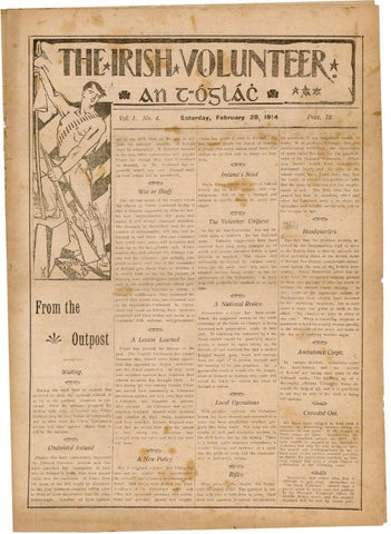 The Irish Volunteer Volume 1 Number 4 By An Phoblacht Issuu