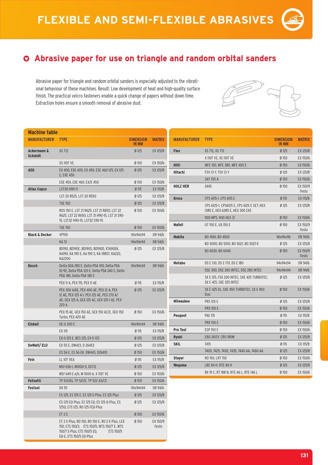 Sandpaper Set Sanding Sheets for Orbital Sander Kress 300 EXE CPS 6125