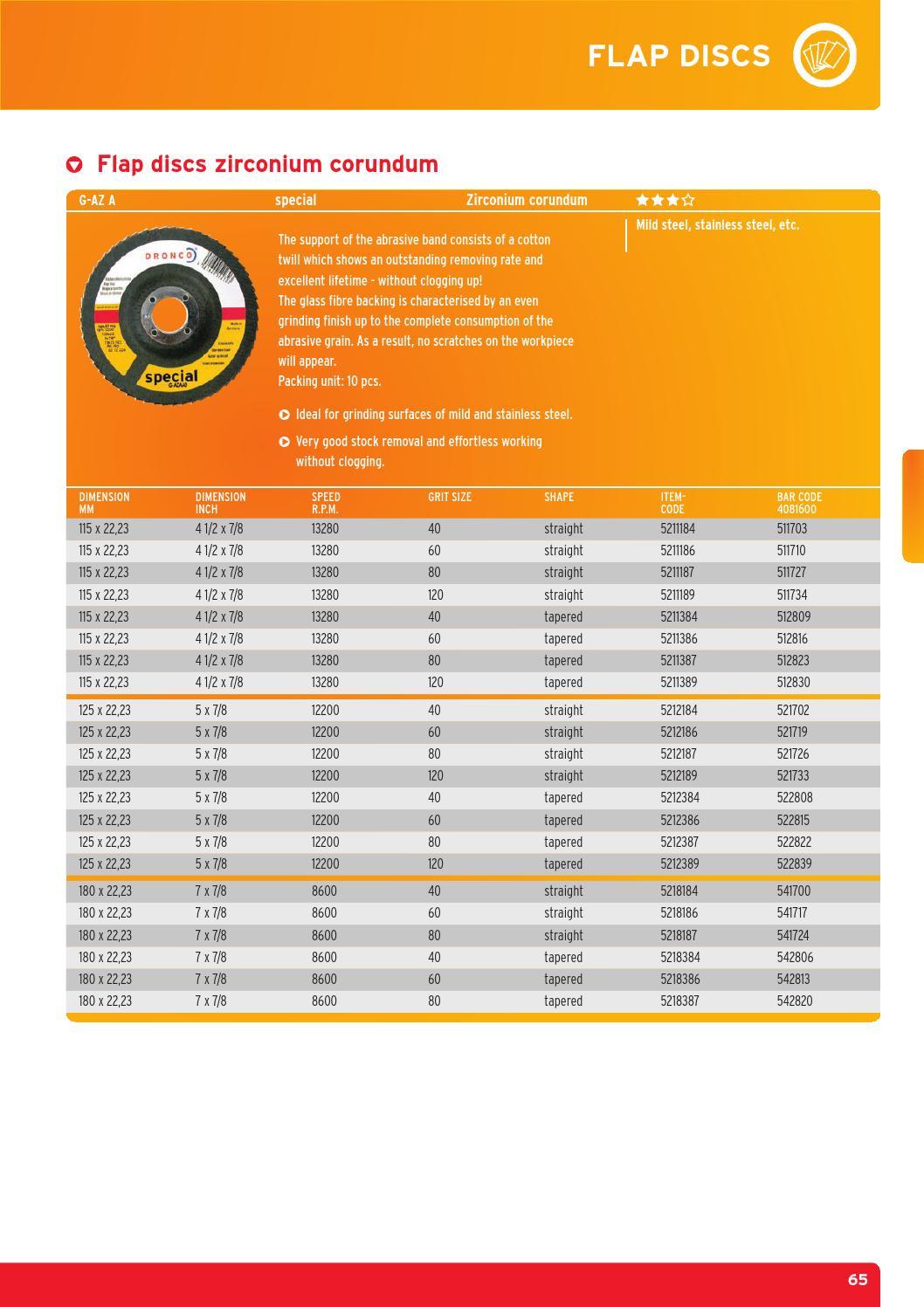 "10pcs Zirc FLAP DISCS 4-1//2-inch x 7//8/"" 60 GRIT for SS /& METAL"