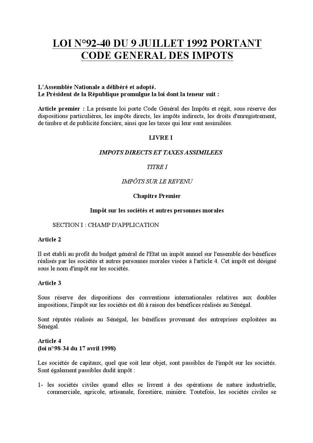 I. Conditions d'application de l'article 57 du CGI