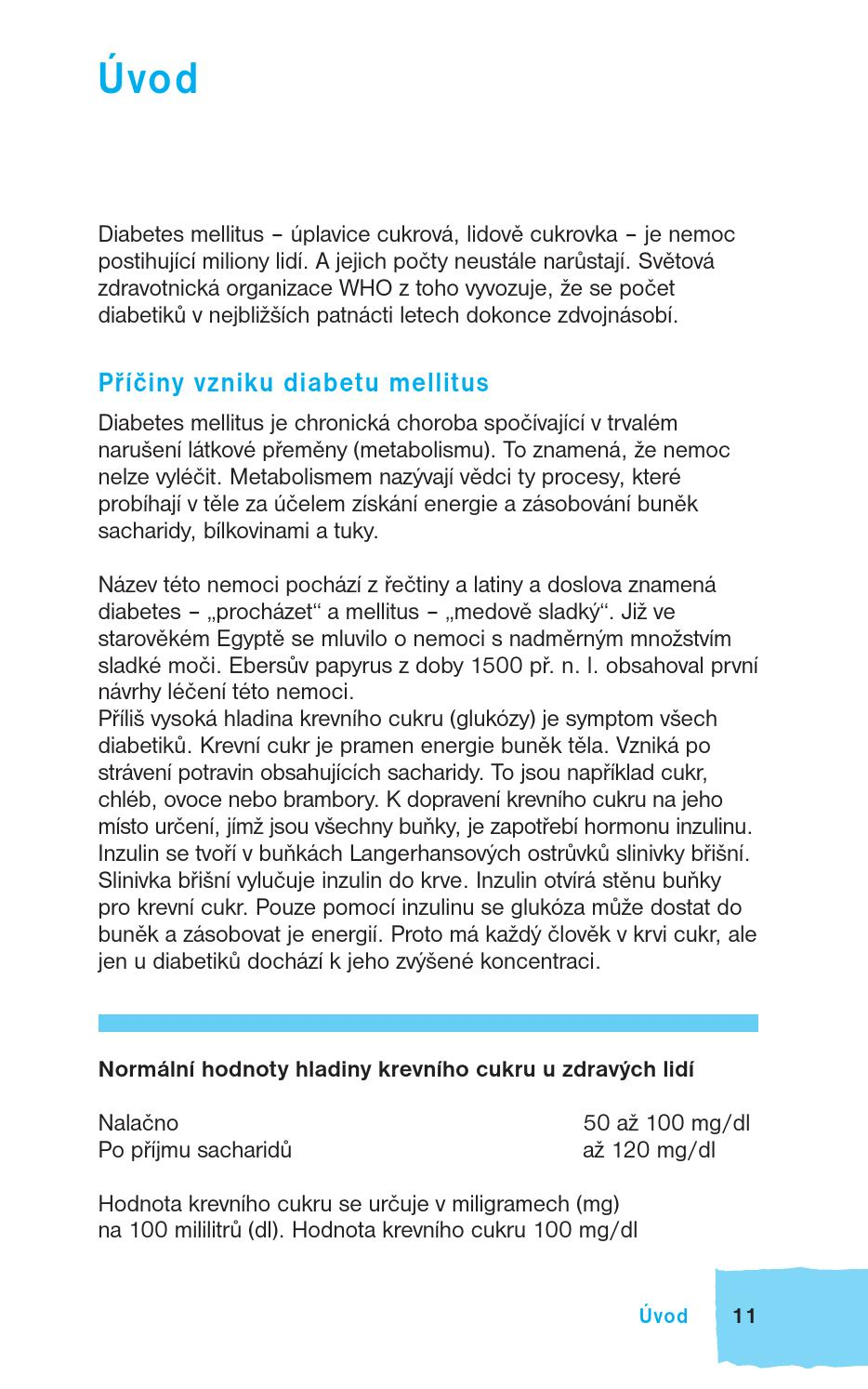 diabetes mellitus 2. typu hodnoty