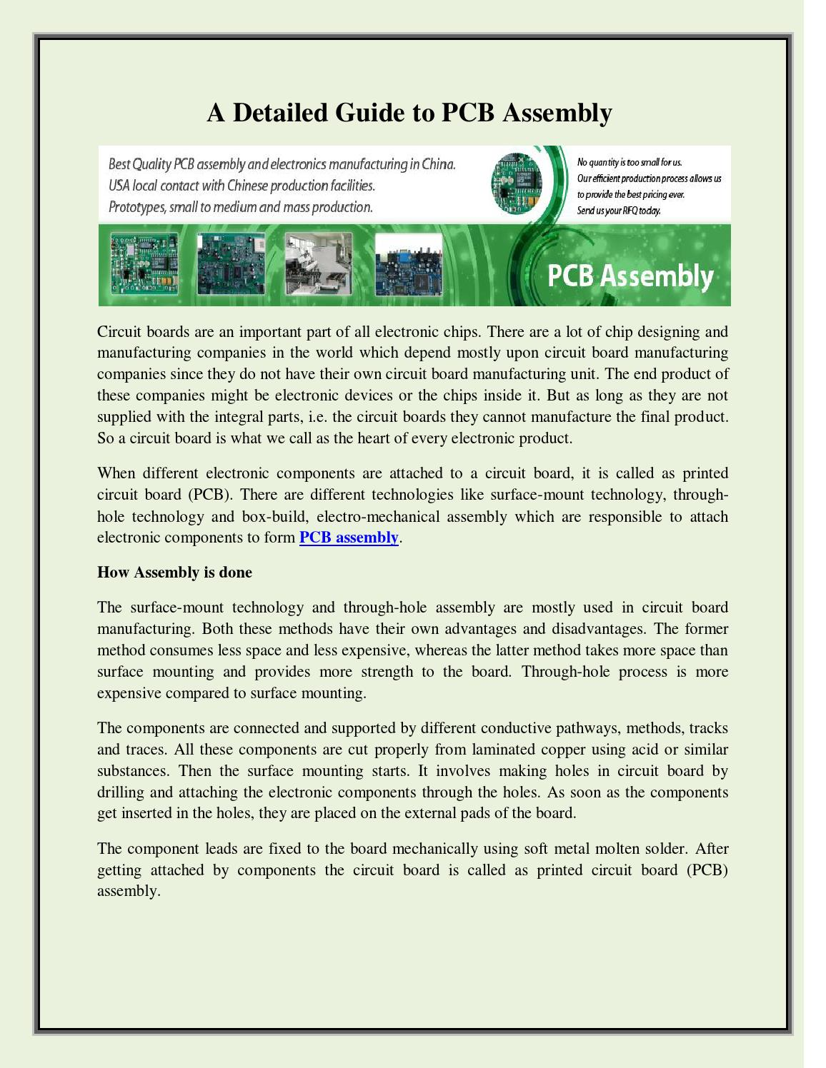 A Detailed Guide To Pcb Assembly By John Mayer Issuu Circuit Boards Smt For Tv China Printed