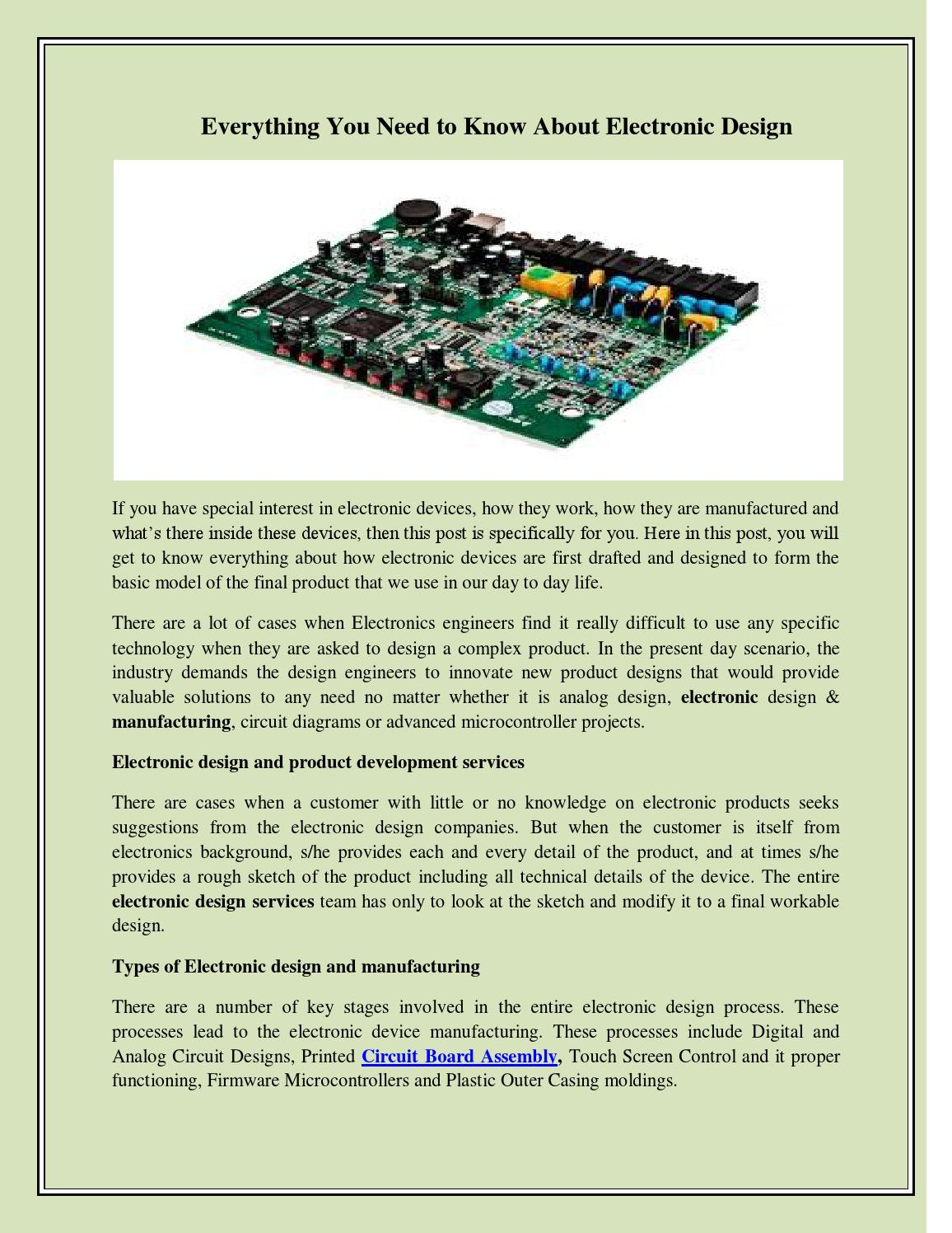 Everything You Need To Know About Electronic Design By John Mayer Simple Circuit Projects Issuu