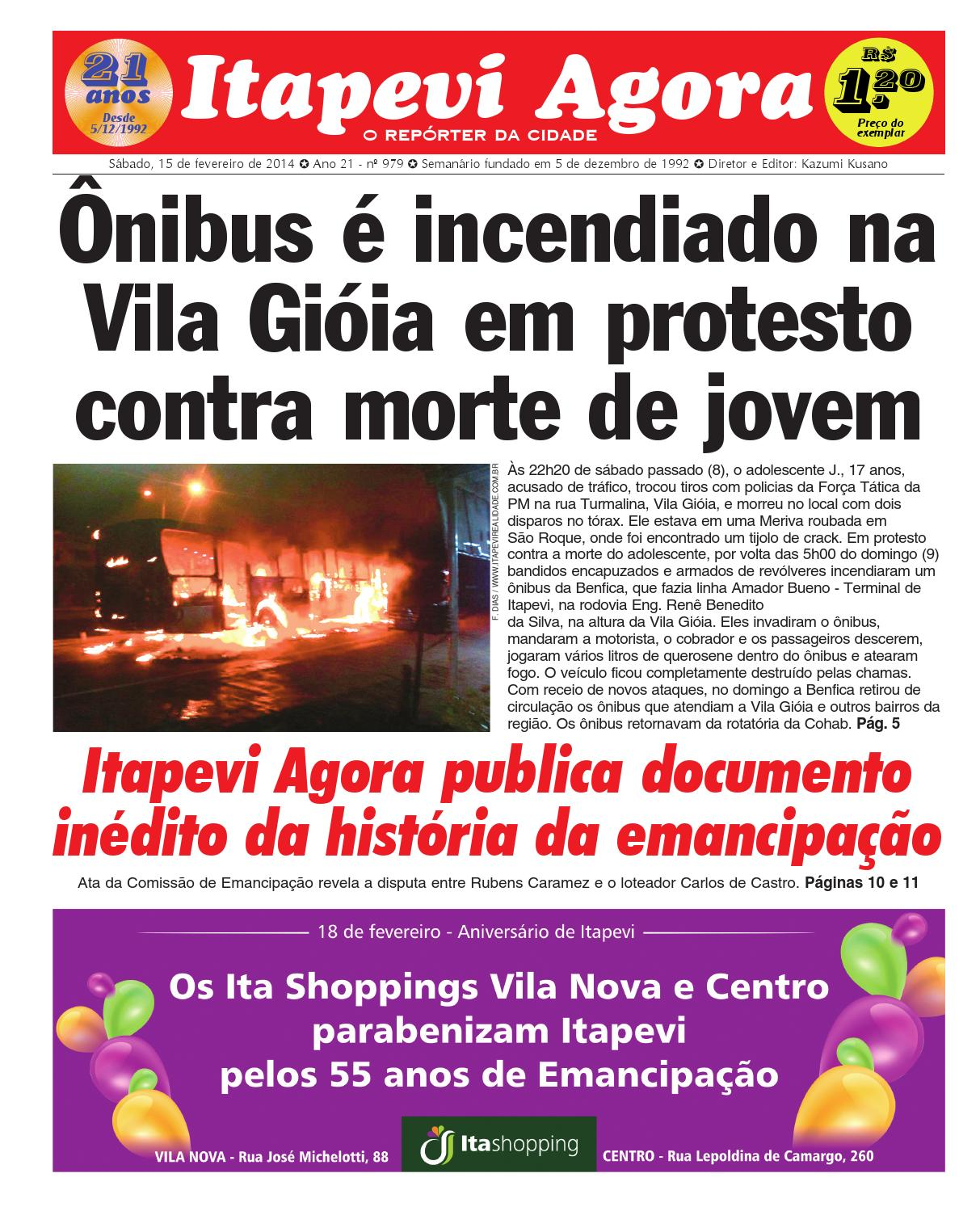 73fa84cffc1 ITAPEVI AGORA Nº 979 - 15 02 2014 by JORNAL ITAPEVI AGORA - issuu