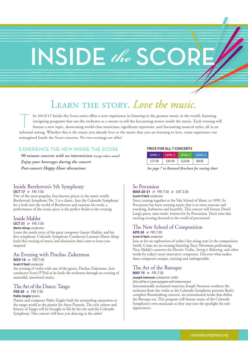 Colorado Symphony 14/15 Inside the Score by Colorado Symphony - issuu