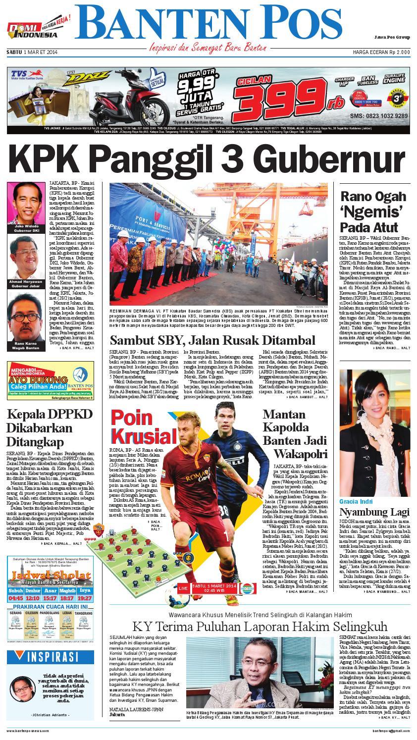 Bantenpos Edisi Sabtu 1 Maret 2014 By Banten Pos News Issuu Produk Ukm Bumn Baju Muslim Anak Laki Dannis Nomor 10 Abu