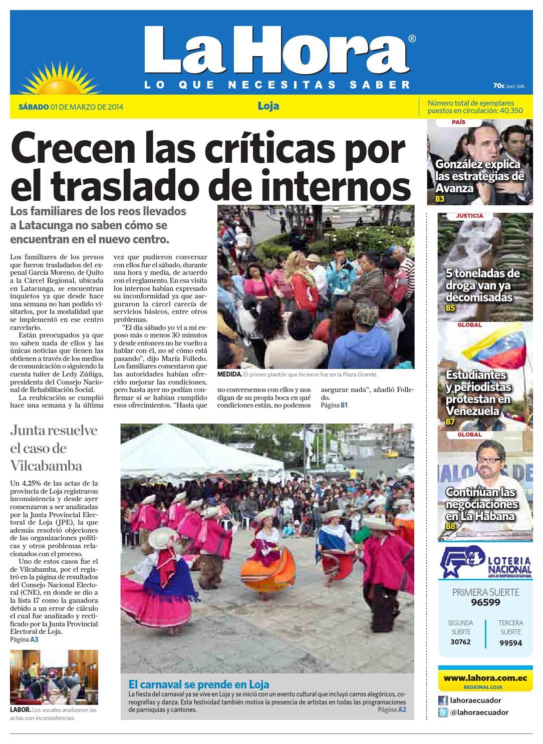 Diario La Hora Loja 01 de Marzo 2014 by Diario La Hora Ecuador - issuu cadf29de70