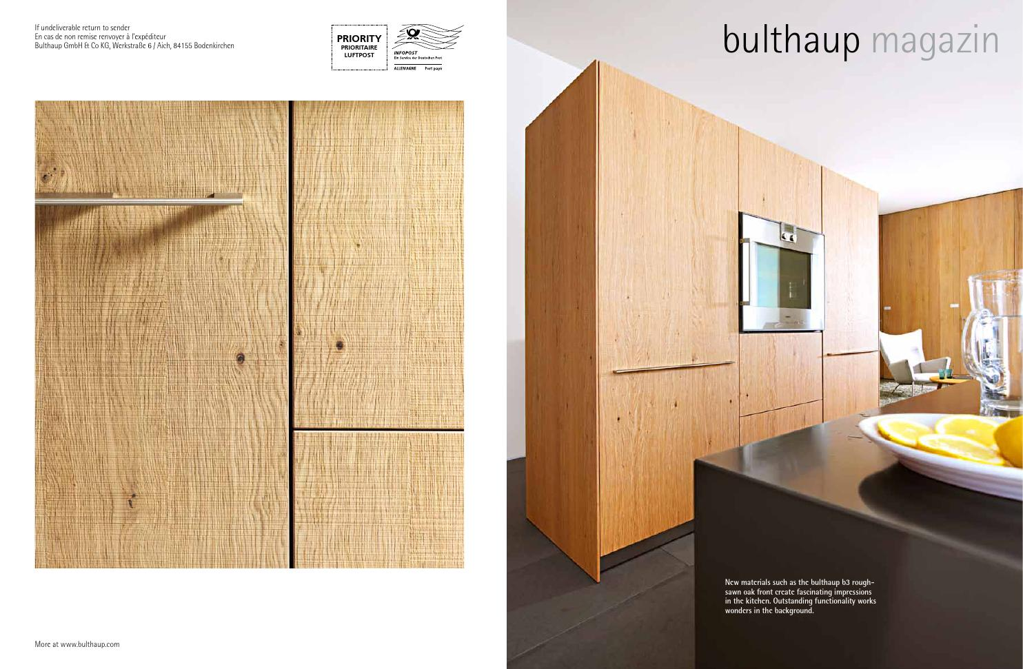 xtra bulthaup magazine by xtra furniture issuu. Black Bedroom Furniture Sets. Home Design Ideas