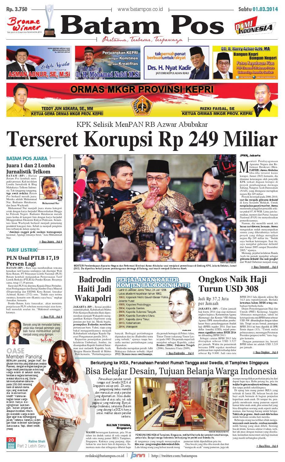 1 maret 2014 by batampos newspaper issuu240 Barisan Kasir Minimarket Ini Bisa Bikin Kamu Betah Belanja Di Minimarket Guys #13