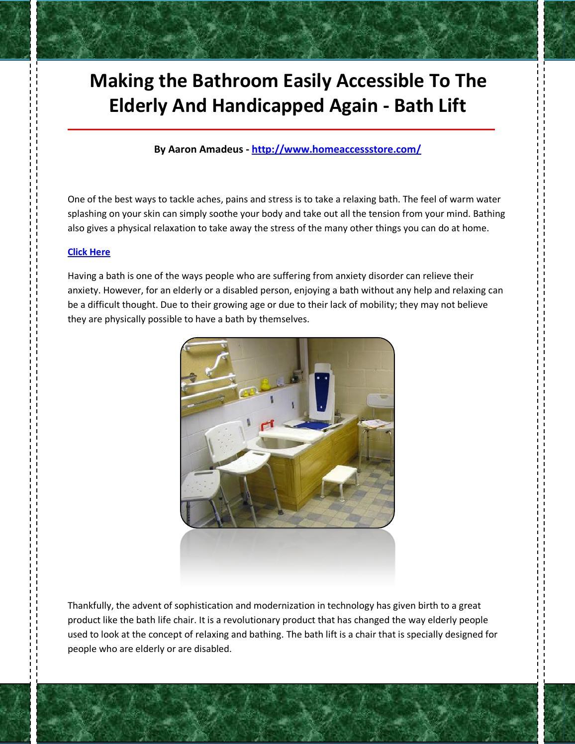 Bath Lift By Bathlift47 Issuu