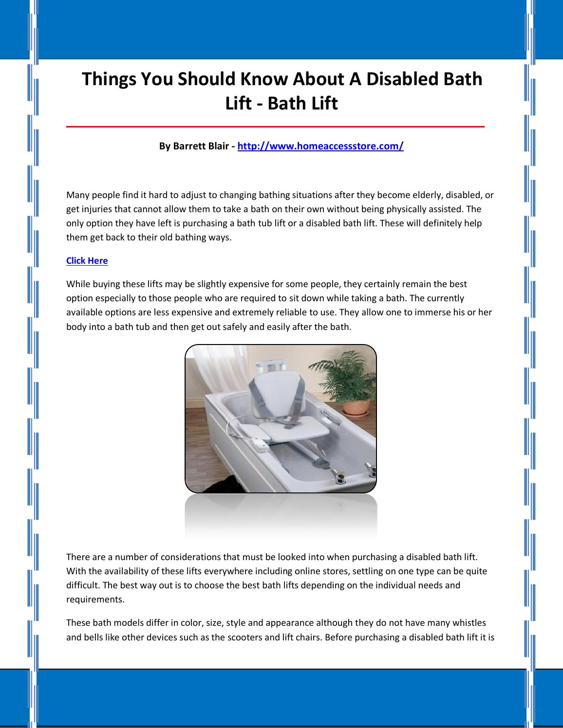Bath lift by bathlift28 - issuu