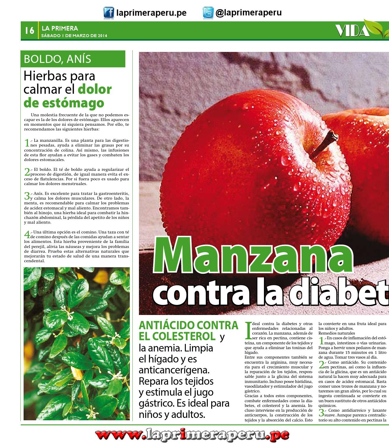 infusiones contra la acidez estomacal