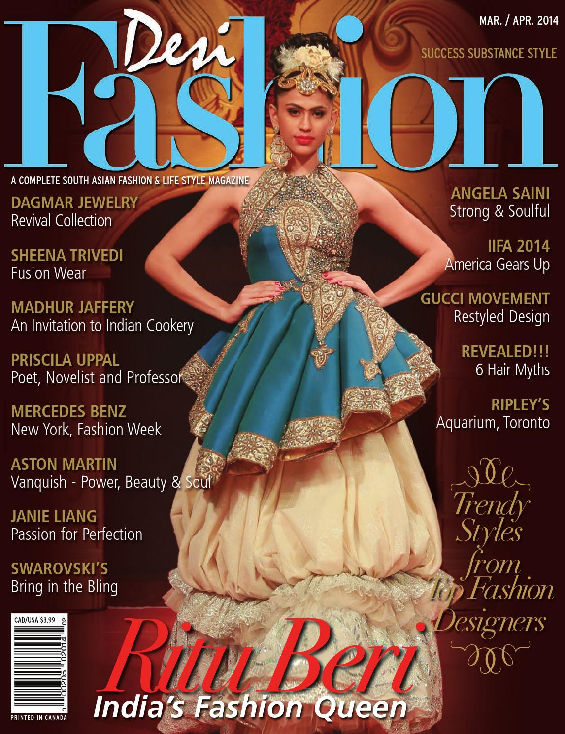 Desi Fashion Magazine March April 2014 By Desi Fashion Magazine Issuu