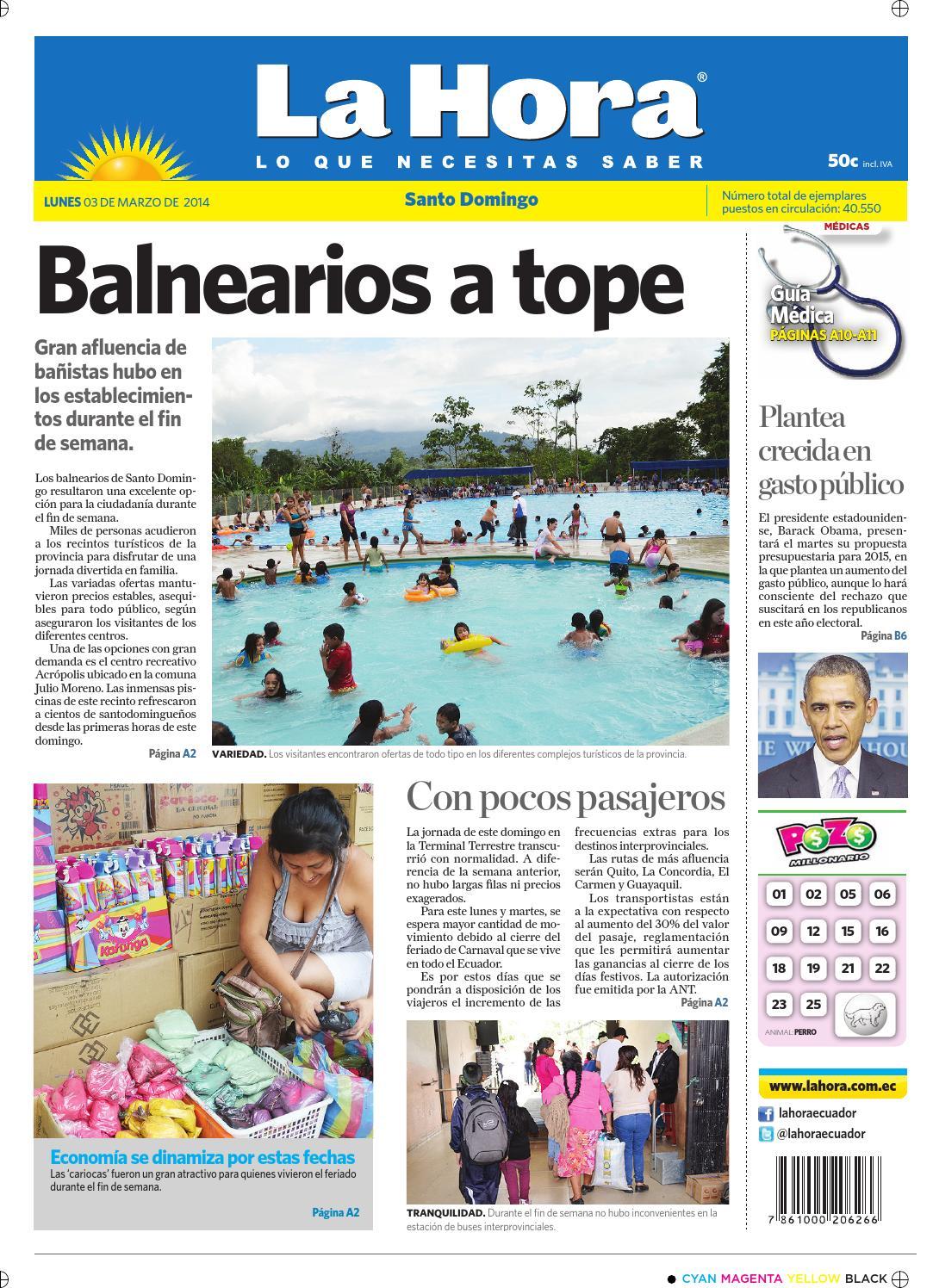 1090f8171 La Hora Santo Domingo 3 marzo 2014 by Diario La Hora Ecuador - issuu