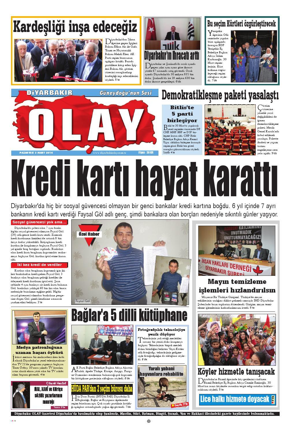 03 03 2014 Gazete Sayfalari By Diyarbakir Olaygazetesi Issuu