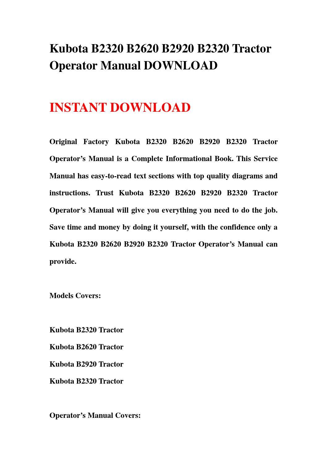 Kubota B2620 Diagram Block And Schematic Diagrams \u2022 Kubota Fender Wiring  Diagram Kubota B2920 Problems