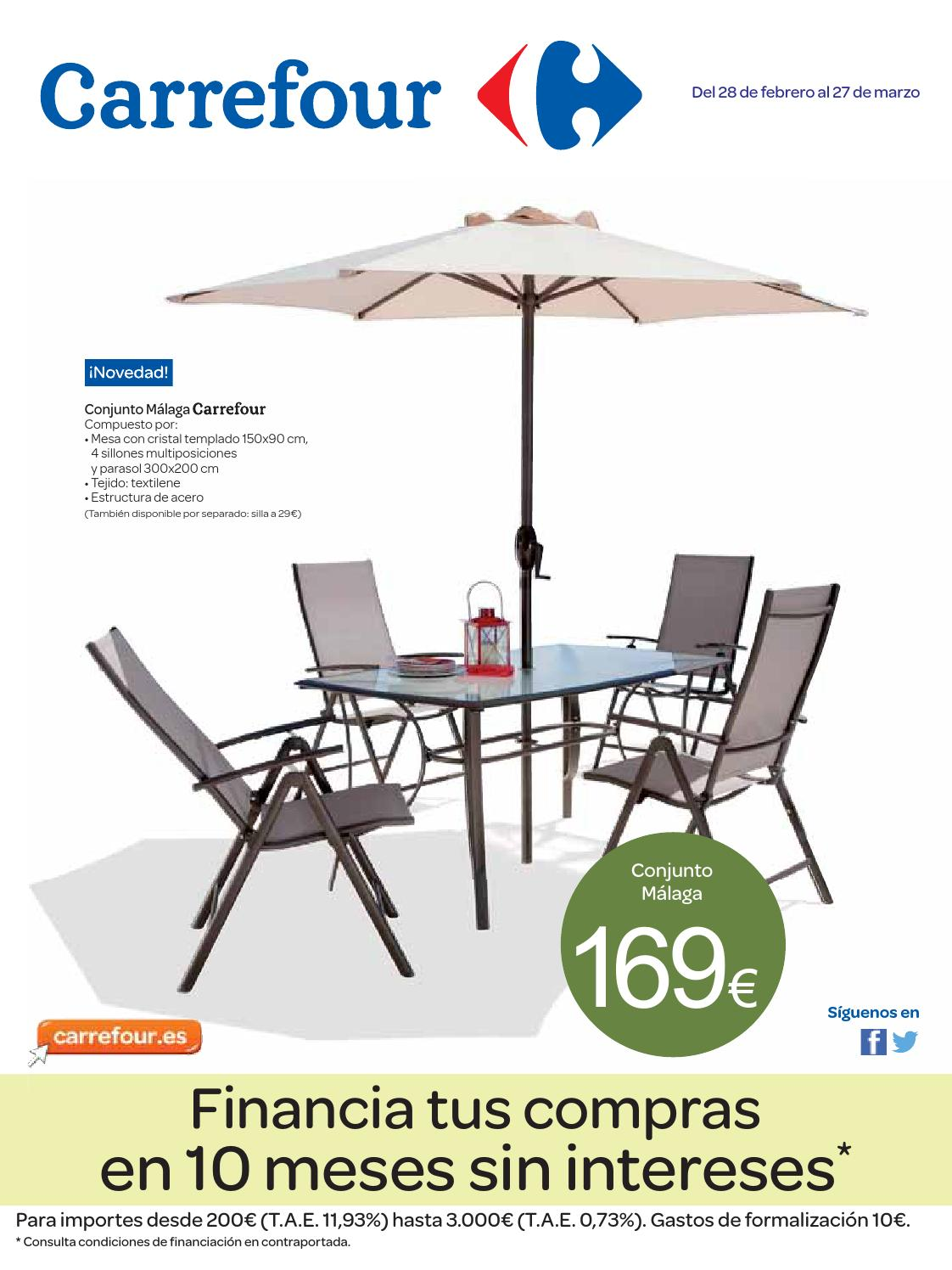 Catalogo carrefour muebles jardin by carrefour online issuu - Muebles de jardin malaga ...