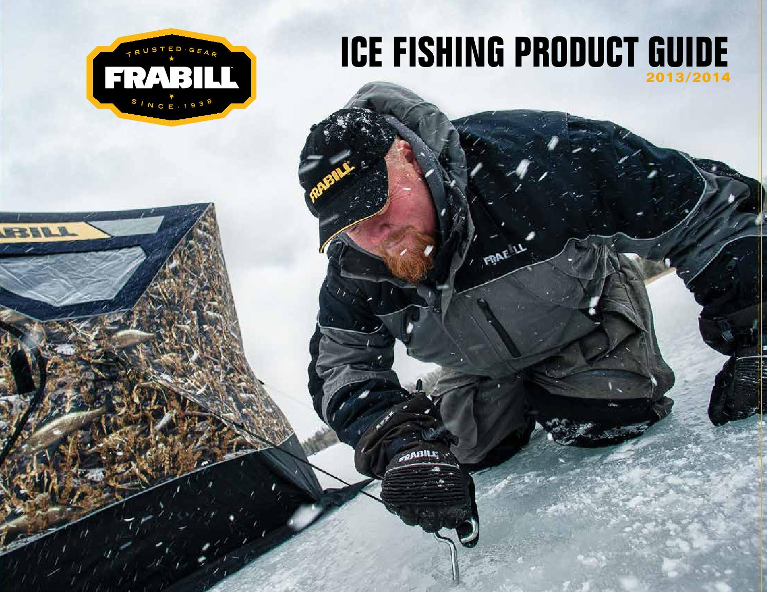 2013 frabill ice fishing product guide by planosynergy for Frabill ice fishing