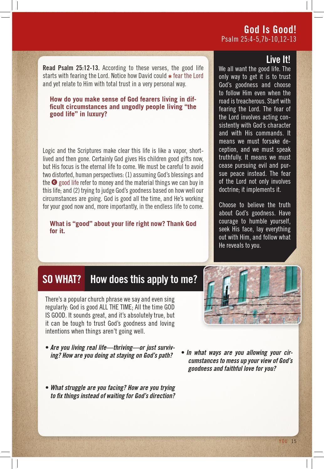 YOU Bible Study Winter 2013 Sample Lesson by Rudy Kish - issuu