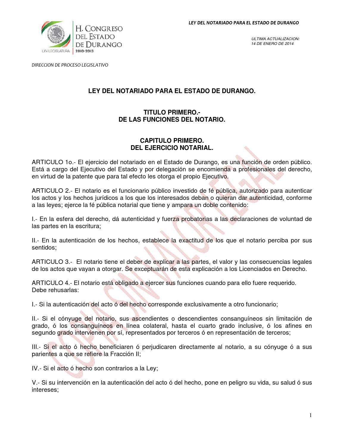 Ley del notariado by Fakto - issuu