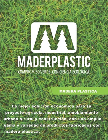 Maderplastic brochure by maderplastic issuu for Amoblamiento urbano