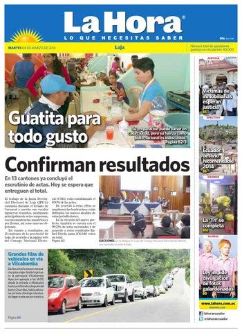 Diario La Hora Loja 04 de Marzo 2014 by Diario La Hora Ecuador - issuu 704fb86d6b