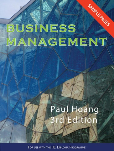 Business management 3rd edition sample isbn 9781921917240 by ibid international baccalaureate business management third edition fandeluxe Images