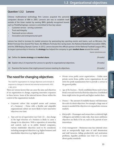strategic objectives of lenovo