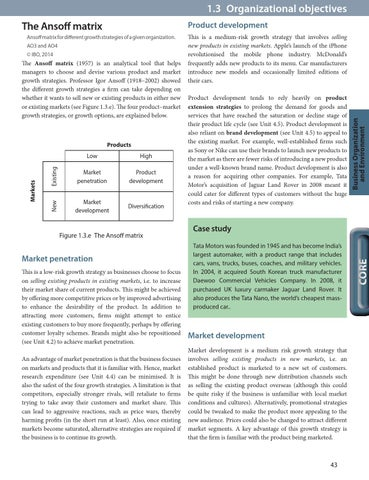 limitations of ansoff matrix