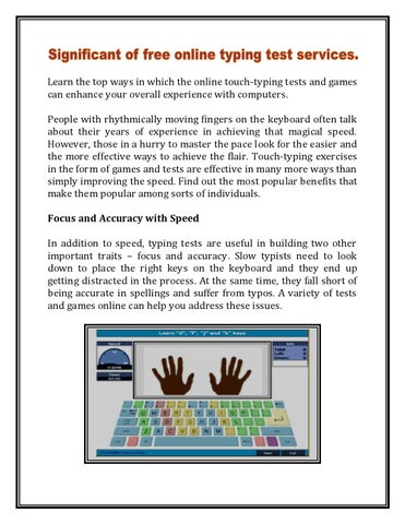 Significant of free online typing test by aalfatyping - issuu